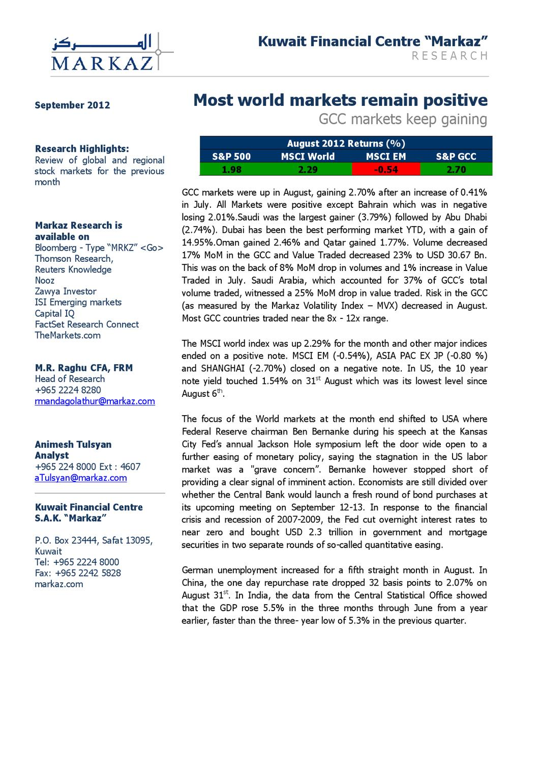 Marketreview12092012 by Marmore MENA Intelligence - issuu