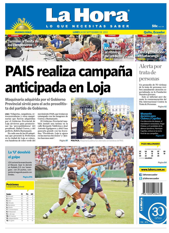 Edici N Impresa Quito Del 24 De Septiembre De 2012 By Diario La  # Hassan Muebles Gavilan