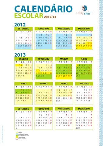 Calendario Politecnico.Calendario Escolar Ess 2012 2013 Enfermagem 3º Ano By