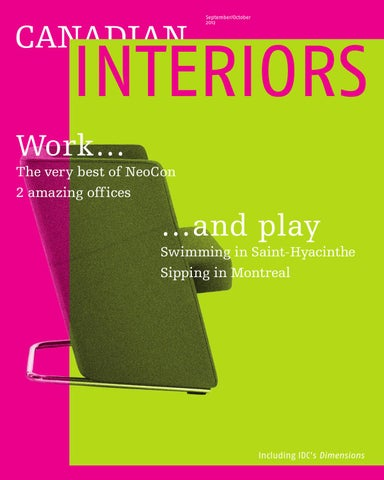 Canadian Interiors September October 2012 by Annex Business Media