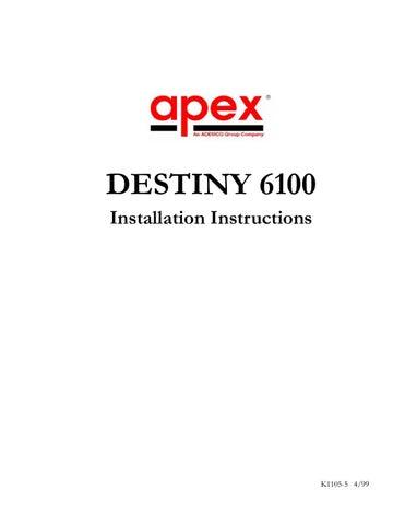 ademco k1105 5 by sertek servicios tecnologicos issuu rh issuu com Garage Door Installation Manual O-Ring Installation Guide