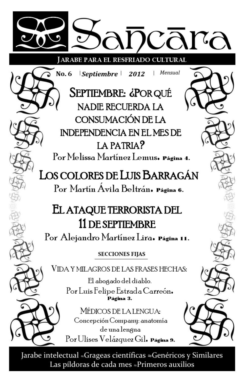 Revista Sancara No. 6 Septiembre 2012 by Sancara - issuu
