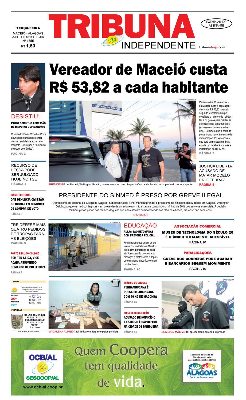 d1e0f0e6c5a Edição número 1555 - 25 de setembro de 2012 by Tribuna Hoje - issuu