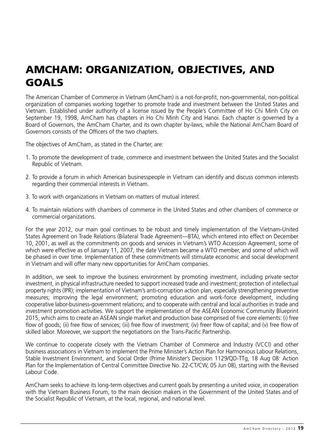 AmCham Vietnam in HCMC - Membership Directory 2012 by Minh
