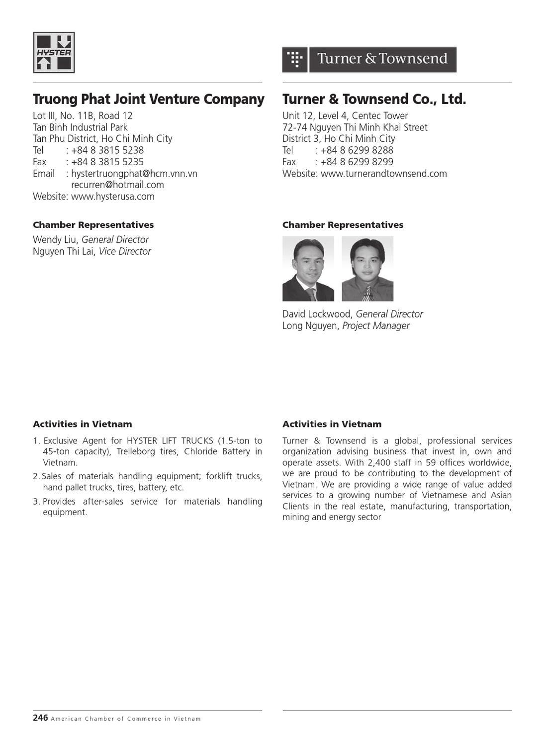 AmCham Vietnam in HCMC - Membership Directory 2012