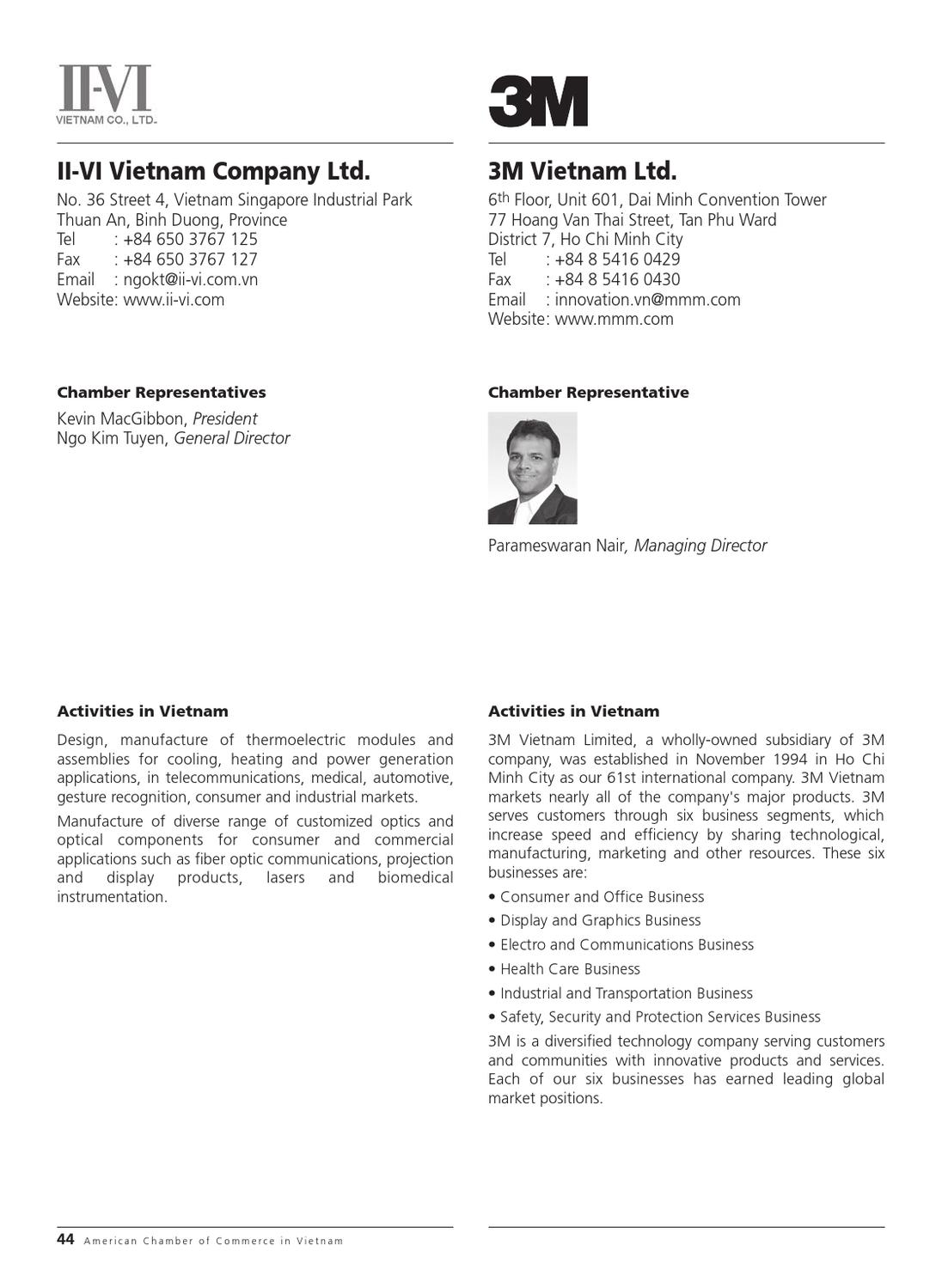 AmCham Vietnam in HCMC - Membership Directory 2012 by Minh Le - issuu