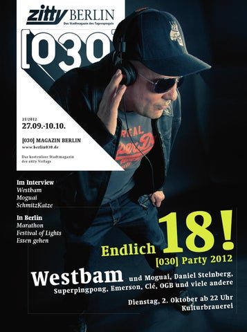 030 Magazin Berlin Ausgabe 21 030 Party Special By Zitty