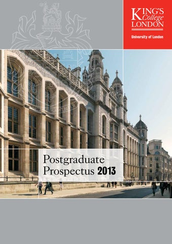Postgraduate prospectus 2013 by kings college london issuu page 1 fandeluxe Gallery