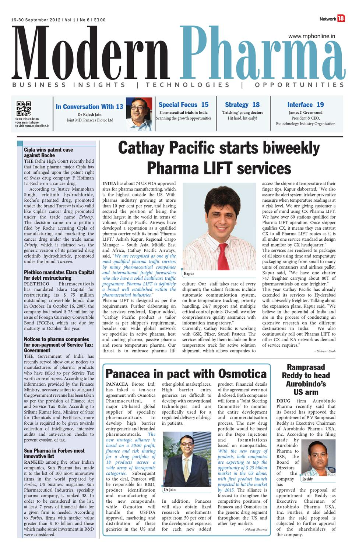 Modern Pharma - 16-30 September 2012 by Infomedia18 - issuu