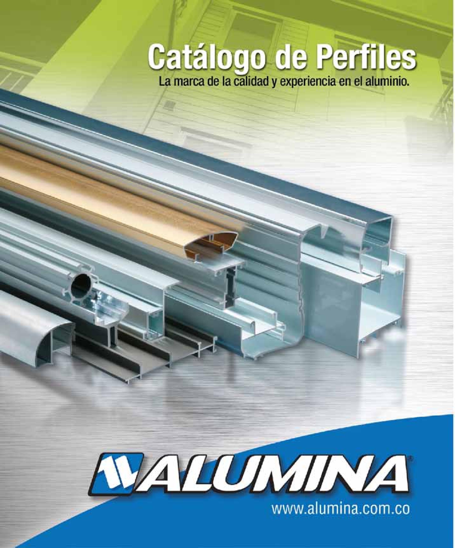 Cat logo perfiles arquitect nicos alumina by jeffrey for Uniones para perfiles cuadrados de aluminio