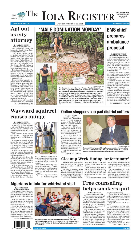3a2617ed1add Newspaper 9/25/12 by Paul Sombke - issuu