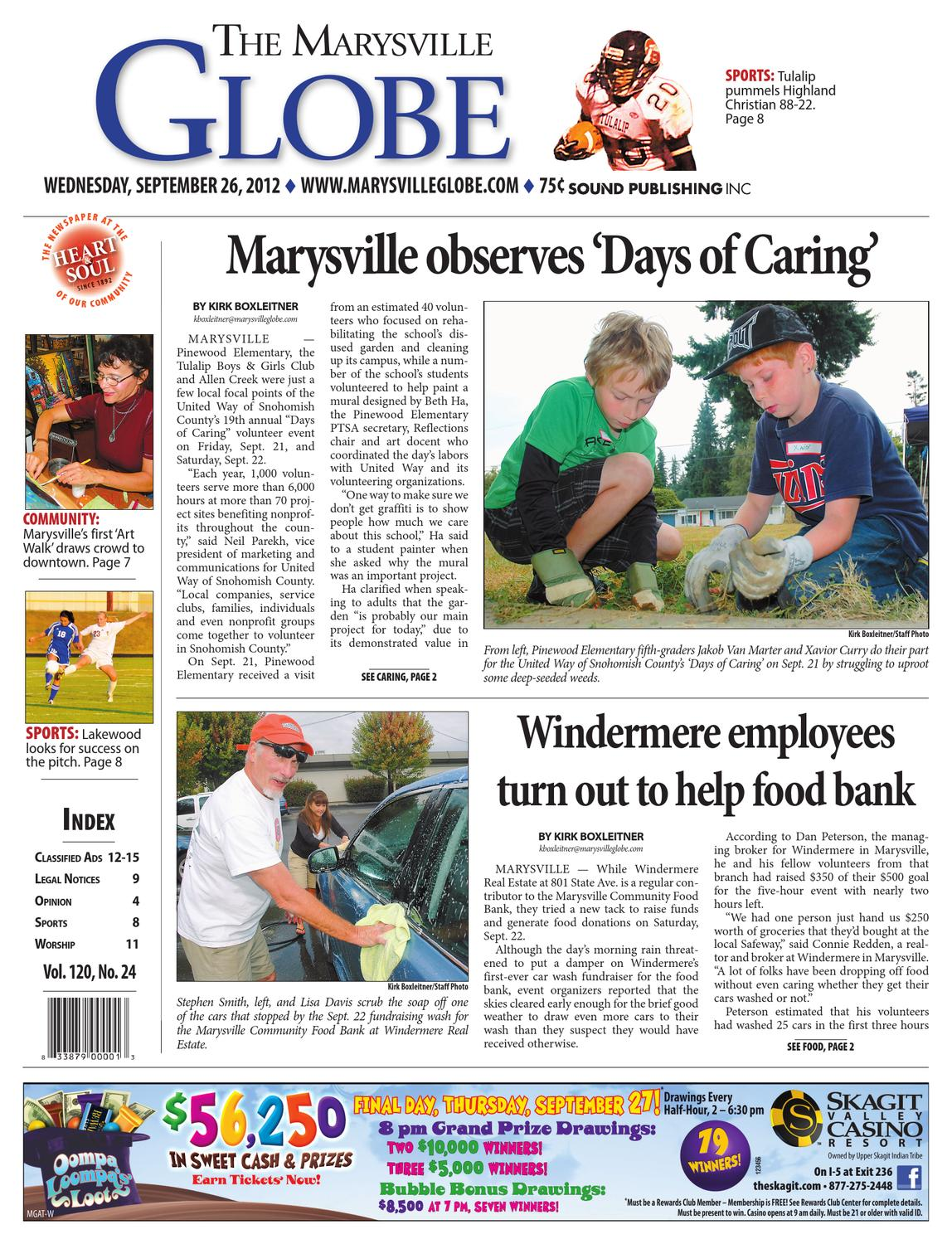 Marysville Globe, September 26, 2012 by Sound Publishing - issuu