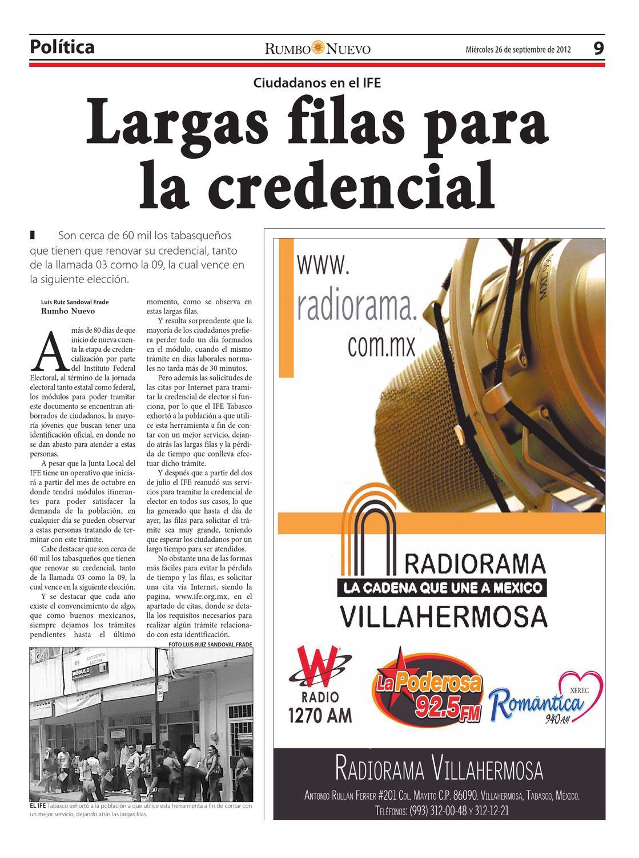 Rumbo Nuevo Miercoles 26 De Septiembre De 2012 By Grupo