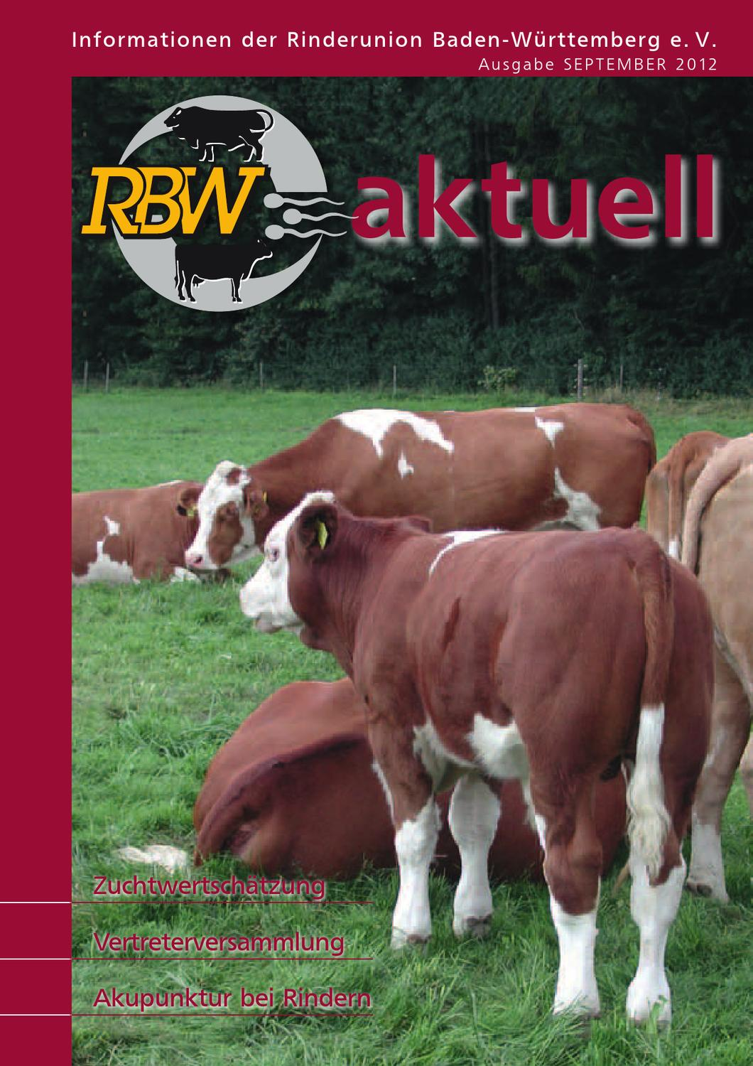 RBW aktuell 9/2012 by Rinderunion Baden-Wuerttemberg e.V. - issuu