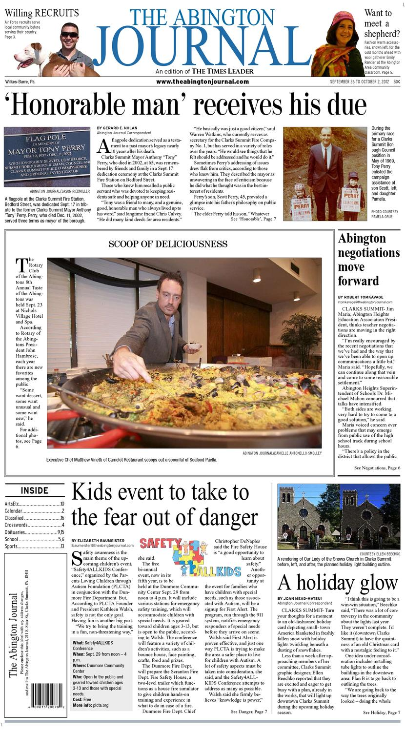 The Abington Journal 09 26 2012 By The Wilkes Barre Publishing