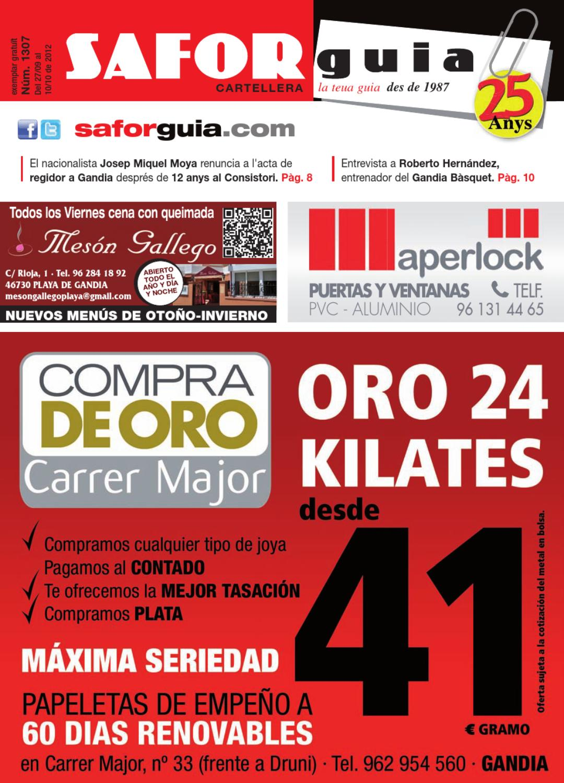 Edici N Del 27 De Setembre Al 10 D Octubre De 2012 By Saforguia  # Muebles Peiro Quart De Poblet