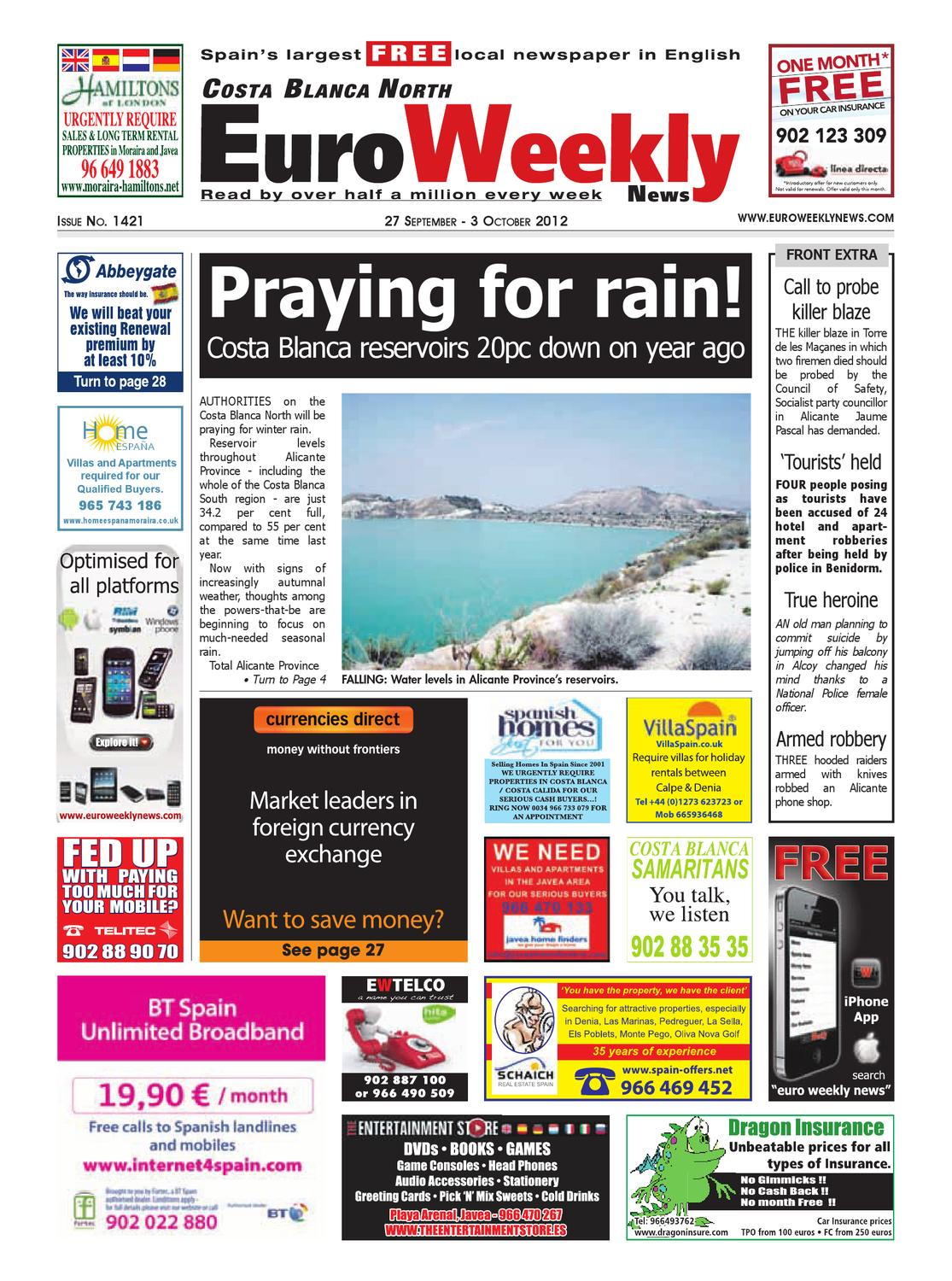 Costa blanca north 27 september 3 october 2012 issue 1421 by euro costa blanca north 27 september 3 october 2012 issue 1421 by euro weekly news media sa issuu fandeluxe Images