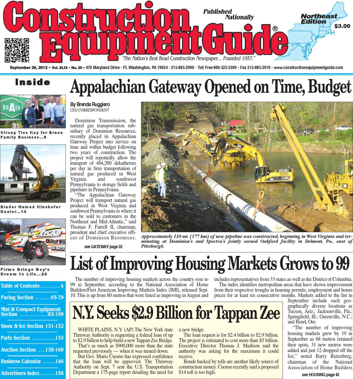 Northeast #20,2012 by Construction Equipment Guide - issuu