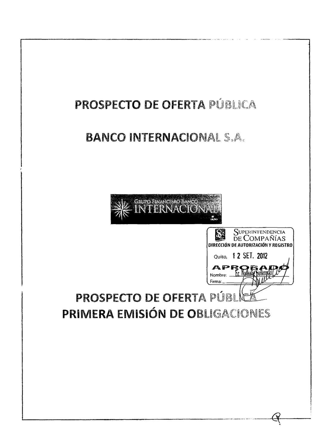 Prospecto Bco.Inter OBL 26092012 by Bolsa de Valores de Quito - issuu