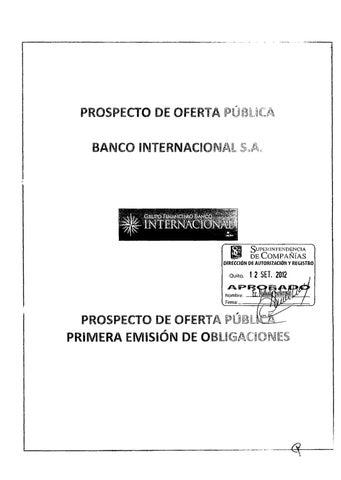 Prospecto Bco.Inter OBL 26092012 by Bolsa de Valores de Quito - issuu