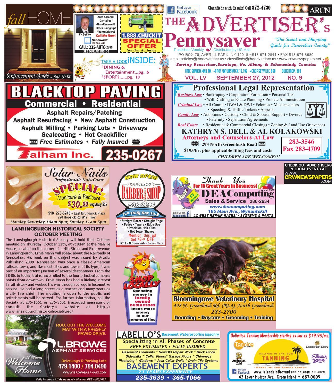 Advertiser north 092712 by capital region weekly newspapers issuu