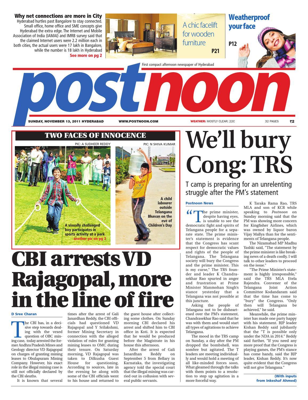 Postnoon E-Paper for 13 November 2011 by Scribble Media