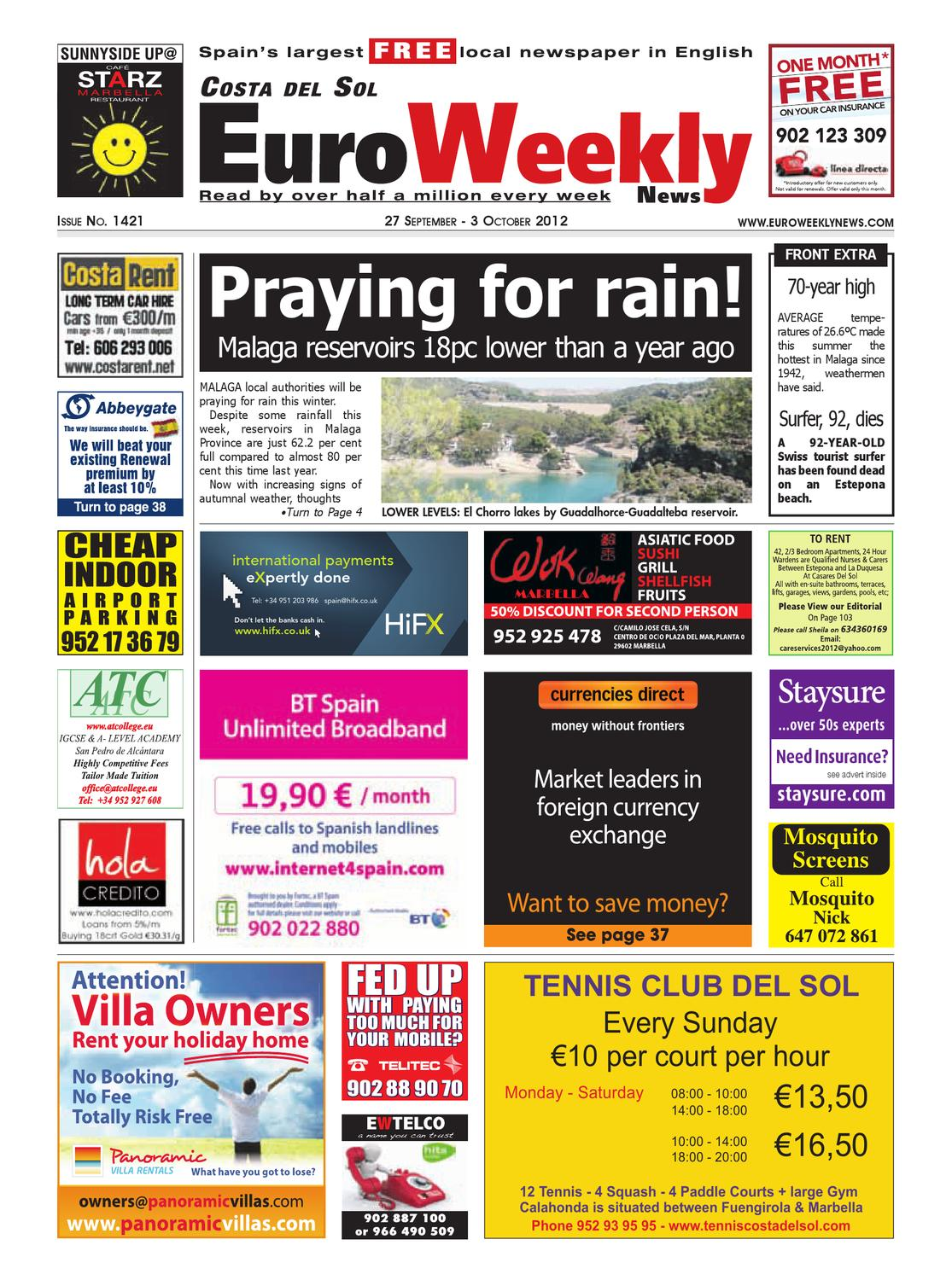 Costa del Sol 27 September - 3 October 2012 Issue 1421 by Euro Weekly News  Media S.A. - issuu
