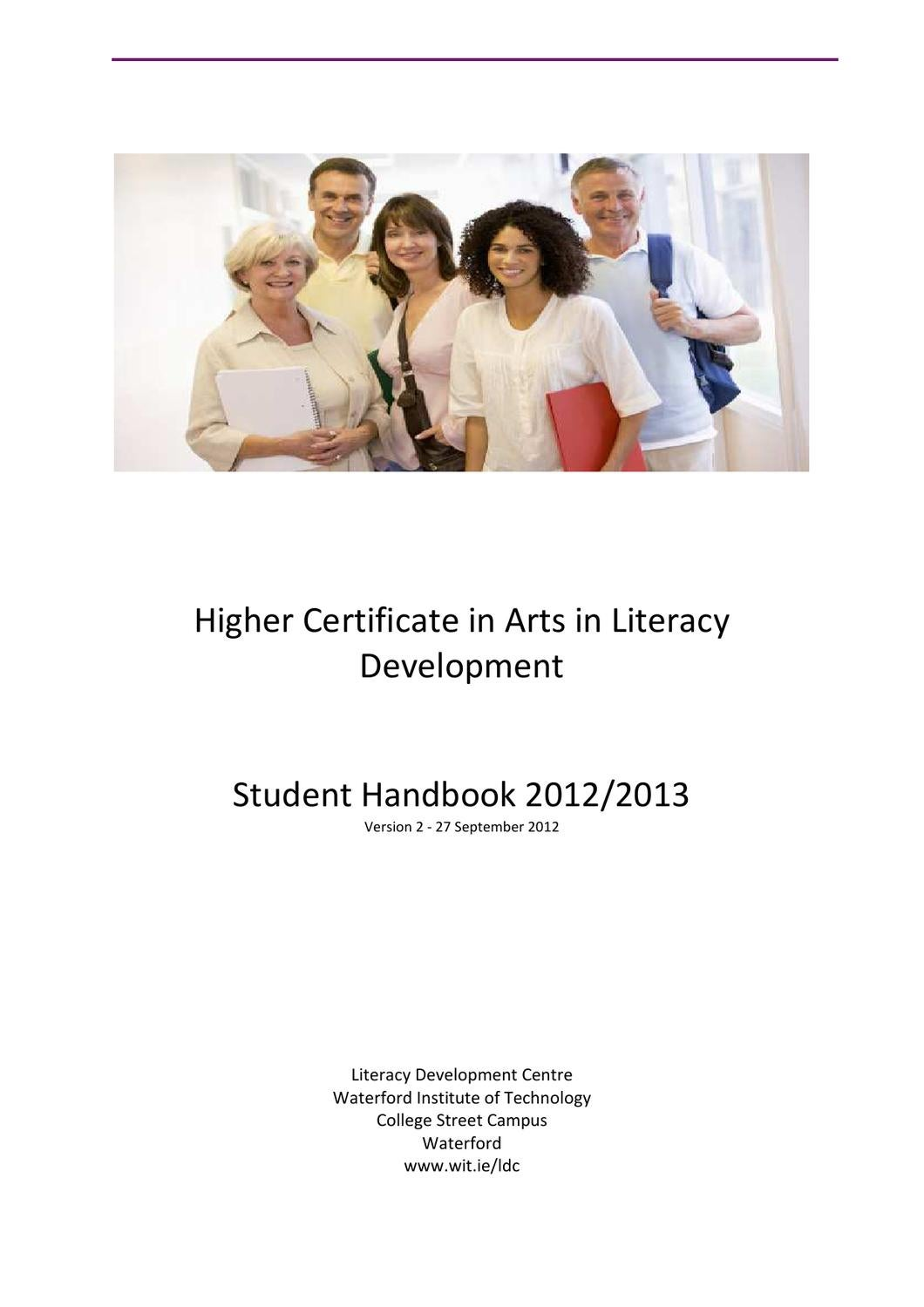 Higher Certificate In Arts In Literacy Development Student