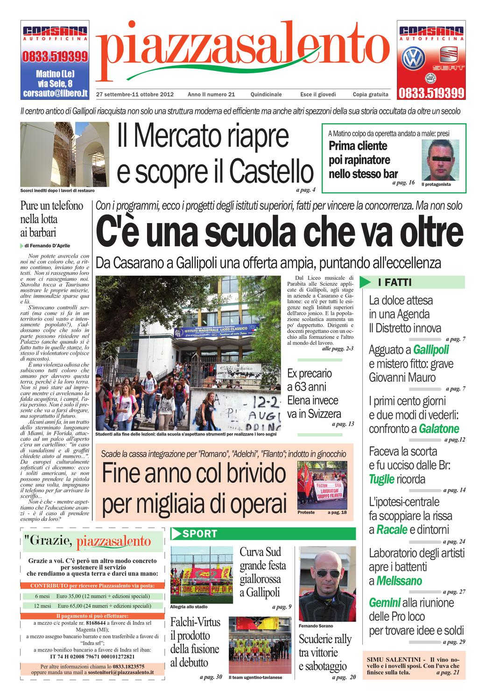 Piazzasalento n21 by Lucio Colavero - issuu 61cdc05d4e1