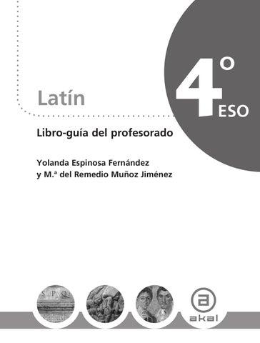 Latín 4º Eso Libro Guía Del Profesorado By Ediciones Akal