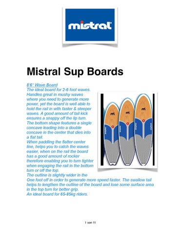 Mistral SUP 2013 description by Sport-Vibrations Mistral - issuu