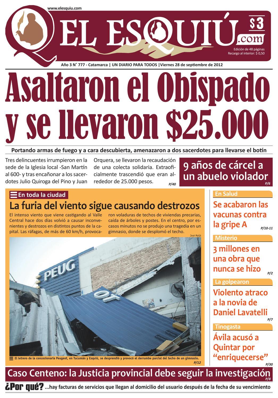 El Esquiu Com Viernes 28 De Septiembre De 2012 By Editorial El  # Muebles Yoma Antofagasta