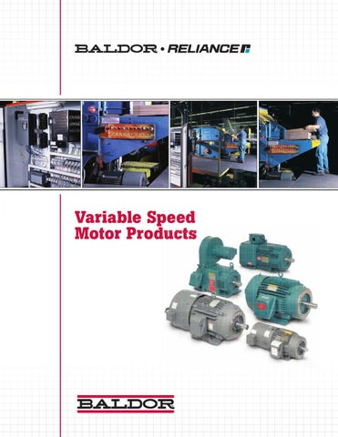 Variable speed motor products by issuu for How to make a variable speed motor