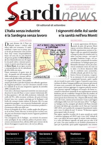 Mensile di informazione socio economica diretto da Giacomo Mameli n.9 -  anno XIII - settembre 2012 - € 2 6d9600c333f4