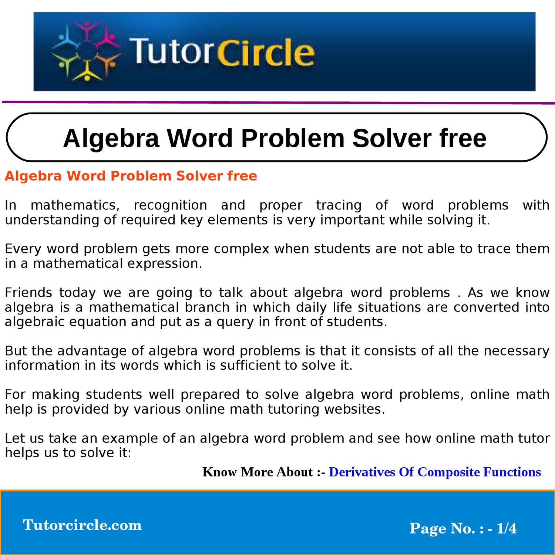 word problem solver calculator online