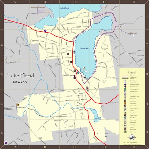Lake Placid Village Map by Adrienne Relyea - issuu