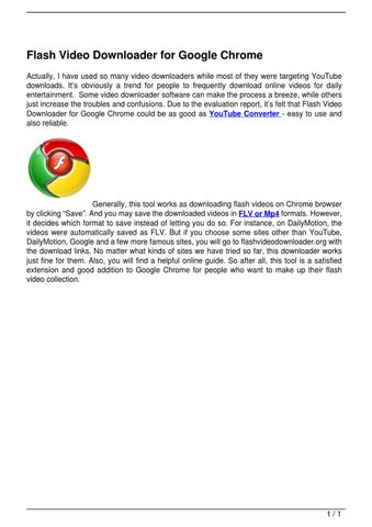 Flash Video Downloader for Google Chrome by David Wong - issuu
