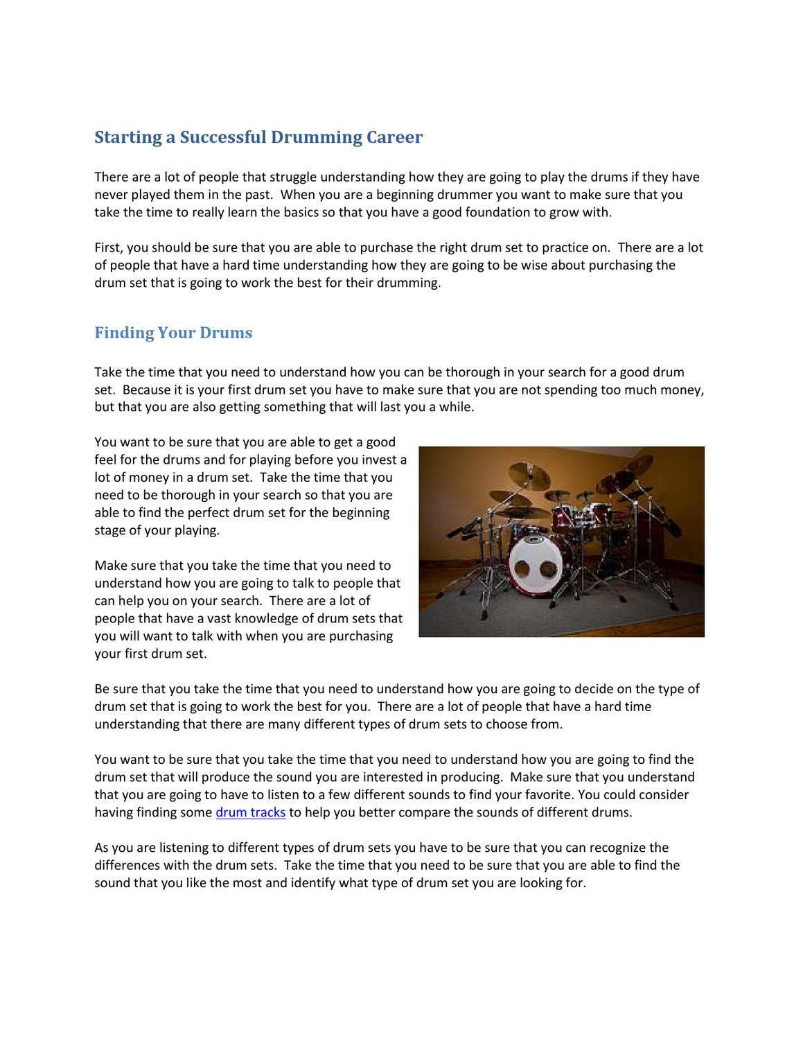 Starting a Successful Drumming Career by Philip Townsend - issuu