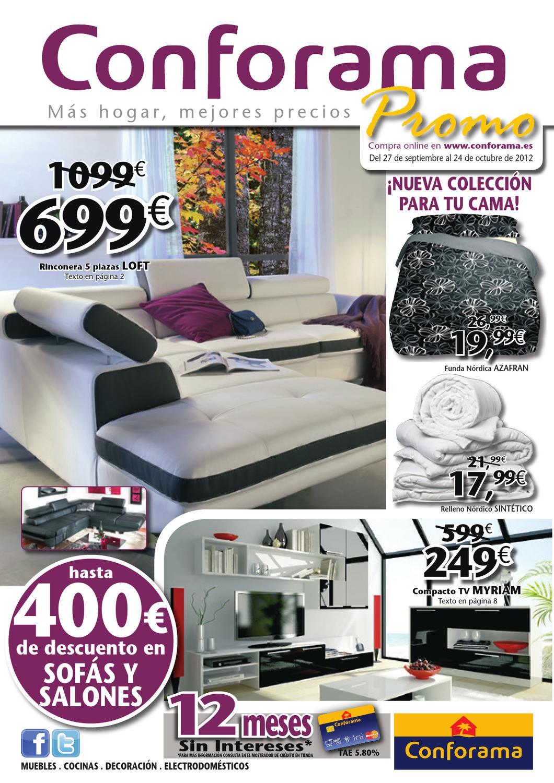 Catalogo conforama octubre 2012 by issuu for Almacenes de muebles en bogota 12 de octubre