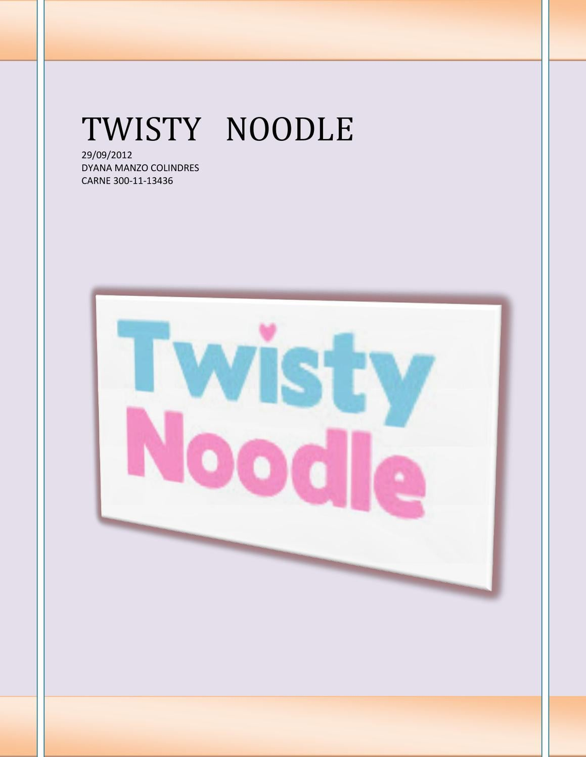twisty noodle by Dyana Marlene - Issuu