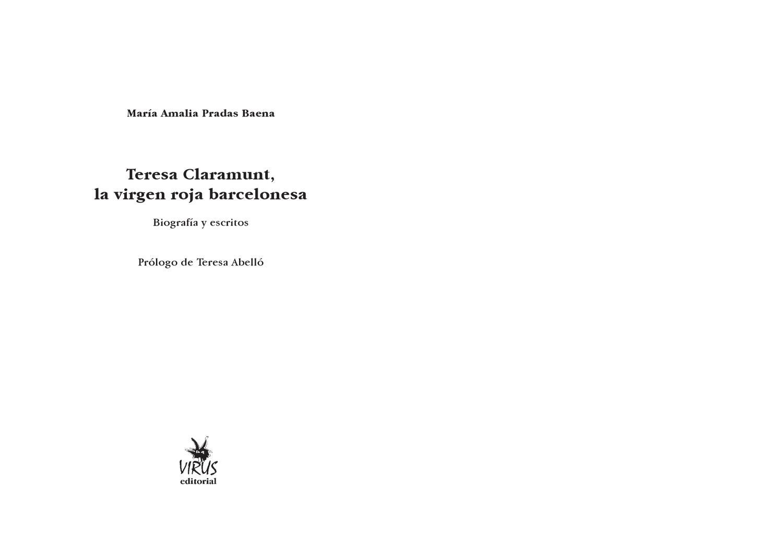 Barcelonesa Teresa Compañero «virgen Roja» Claramunt Durruti La By hQtxCsBord