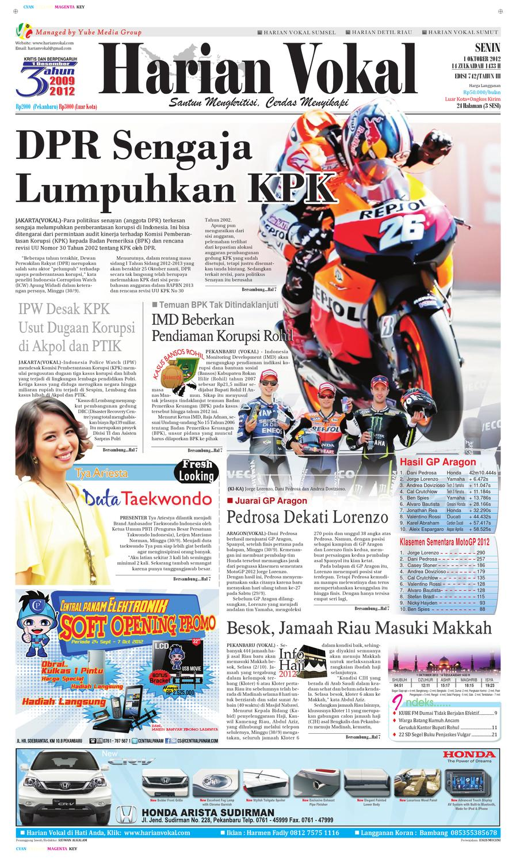 Harian Vokal Edisi 1 Oktober 2012 By Riau Publisher Issuu Produk Ukm Bumn Kue Sagu Ikan Haruan