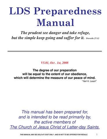 LDS Preparedness Manual by neil bigelow issuu
