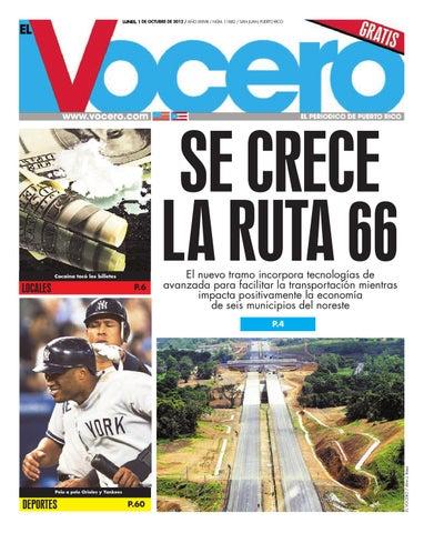 3e5898167a4f8 Edición 1 de Octubre 2012 by El Vocero de Puerto Rico - issuu