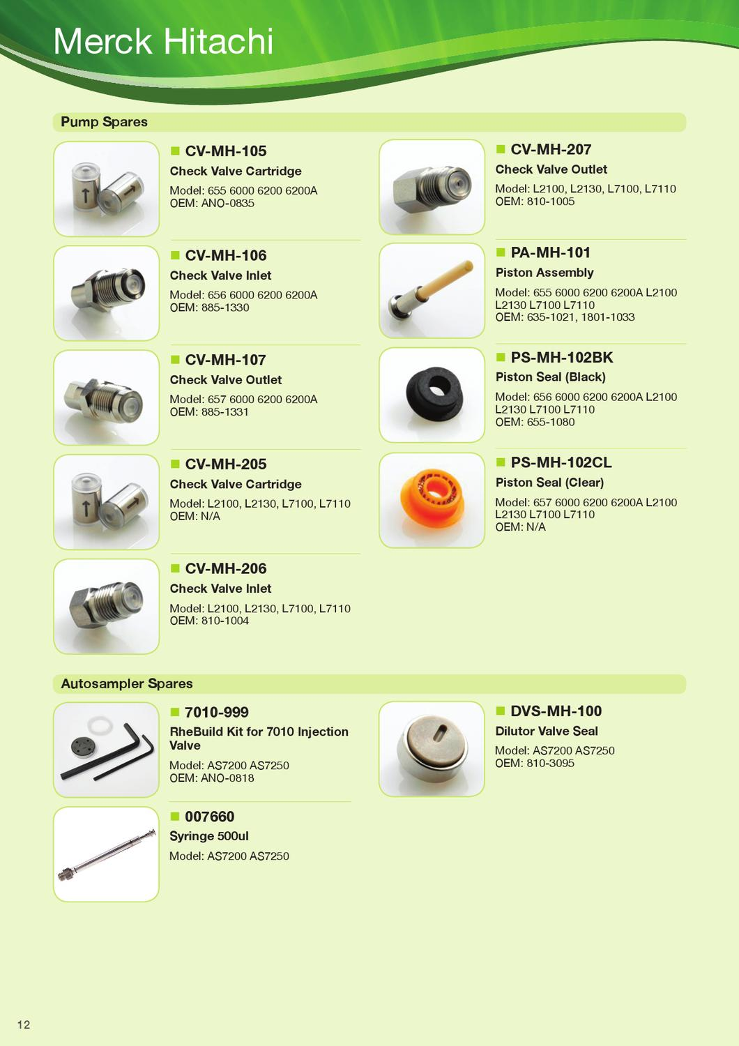Kinesis HPLC Spares Catalogue by Kinesis - issuu