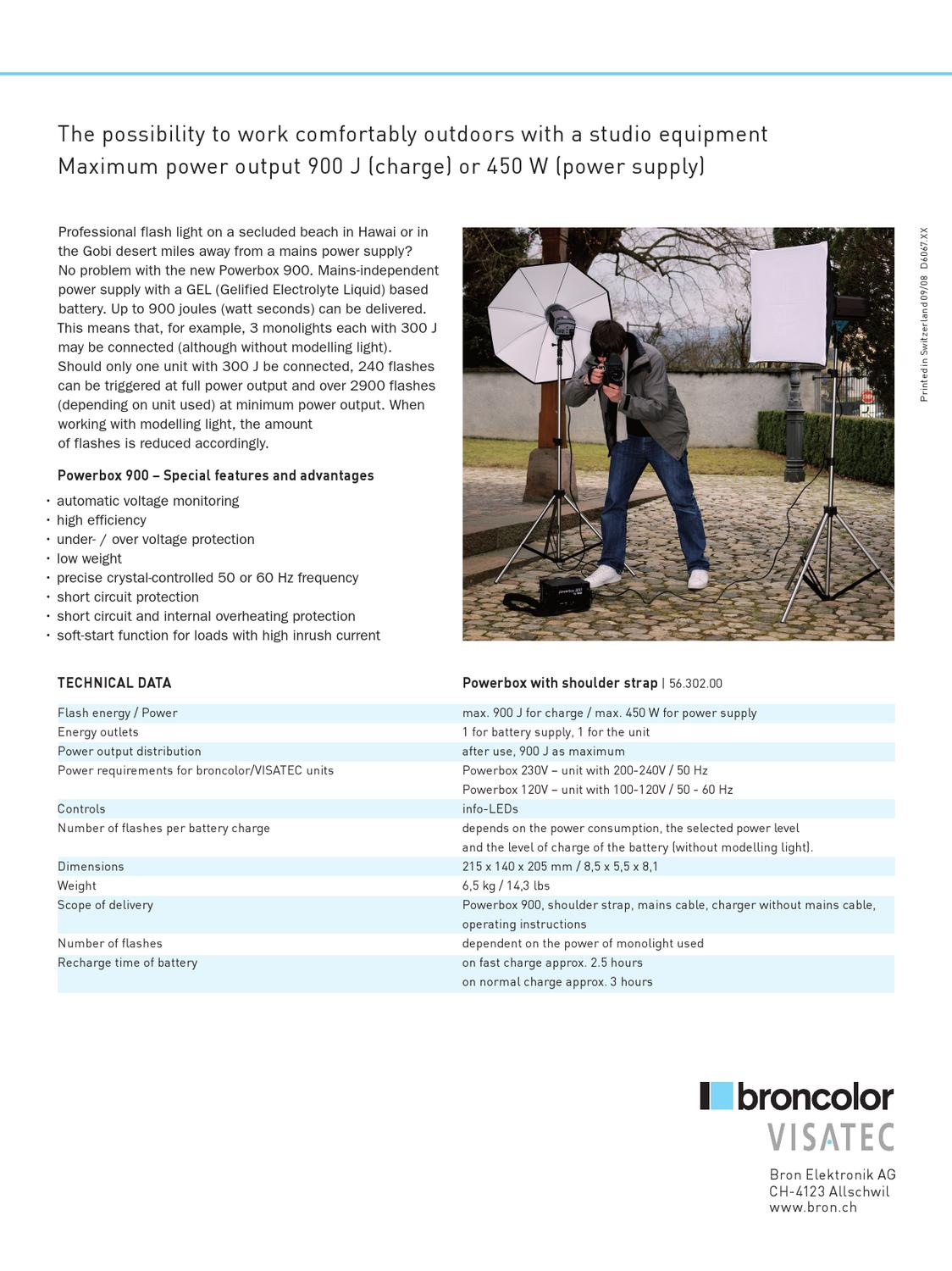 Broncolor Powerbox 900 By Interfoto Issuu High Low Voltage Protection Circuit