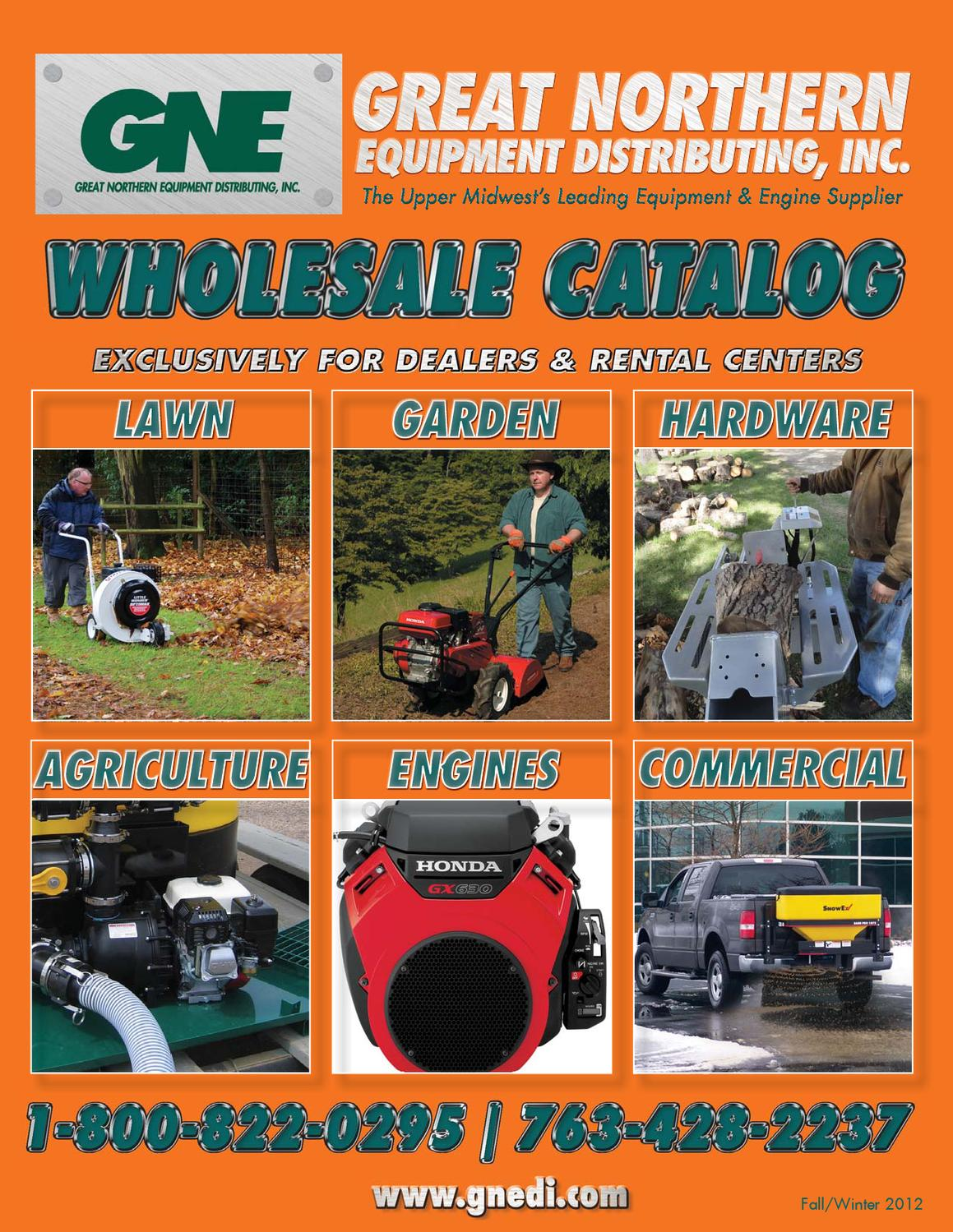 2012 Great Northern Equipment (GNE) Fall Catalog by Great