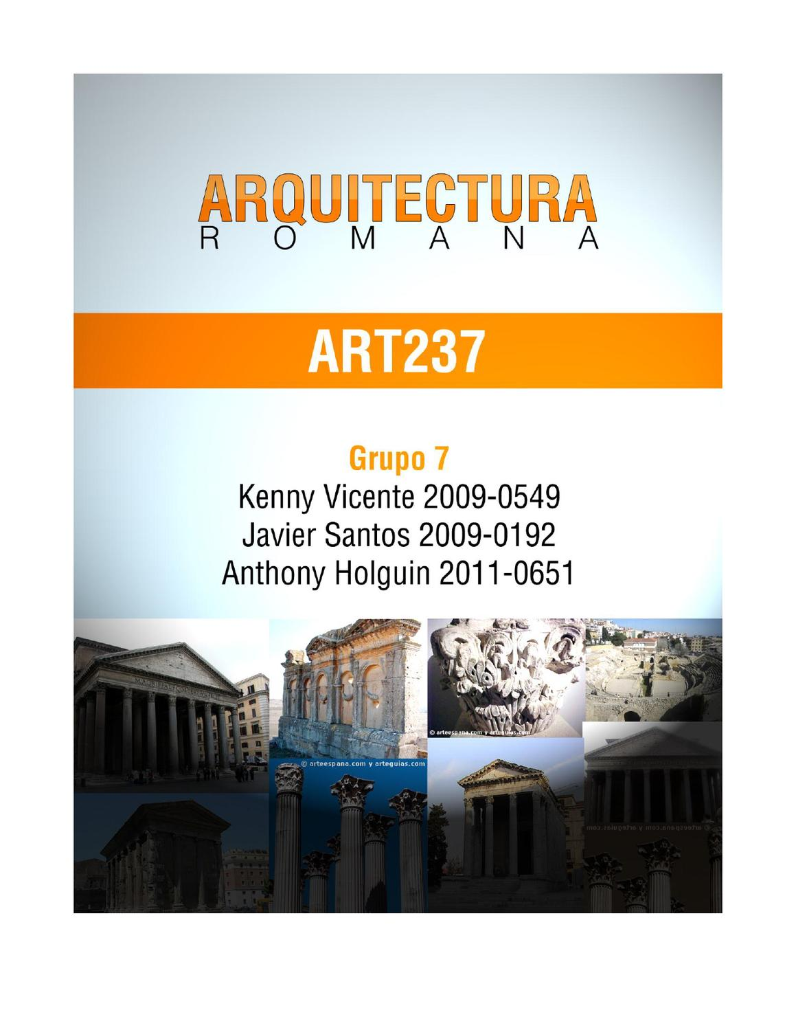 Arquitectura romana by kenny vicente issuu for Arquitectura romana pdf