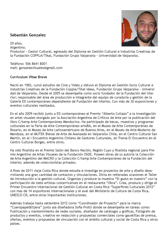 Curriculum Vitae 2012 by Seba Gonzalez - issuu