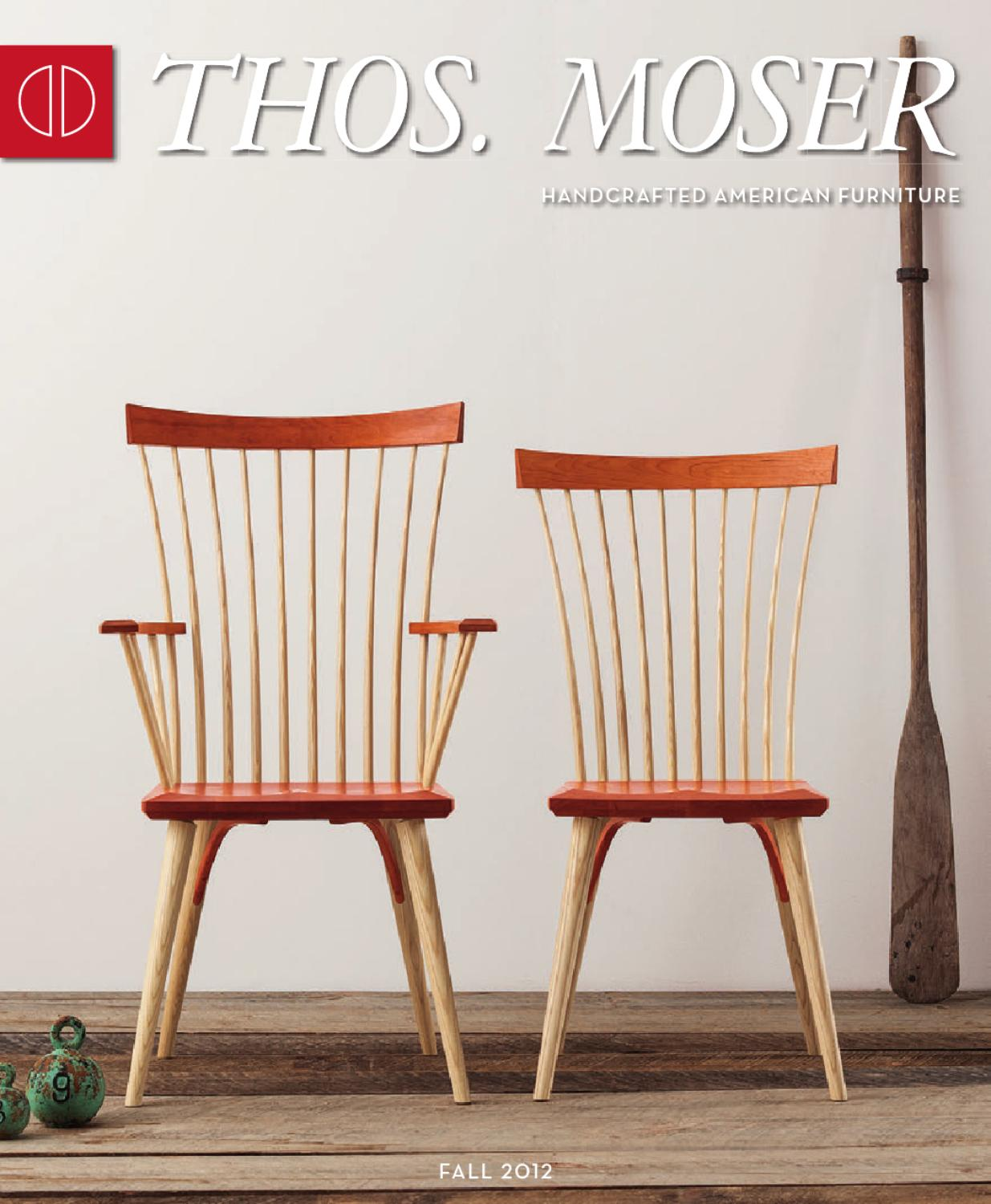 Thos. Moser Fall 2012 Catalog By Thos. Moser Handmade